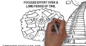 One-step-at-a-time-goal-achieving-cartoon-doodle-video